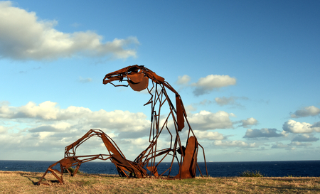 Sydney, Australia - Oct 23, 2016 Harrie Fasher: Transition. Sculpture by the Sea Bondi to Coogee along the coastal walk is The Worlds Largest free to the public sculpture Exhibitions. Editorial