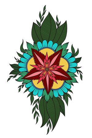 flower color large in mahandi style