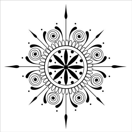 Abstract mandala. Anti-Stress Therapy Pattern. Printable package decorative elements.