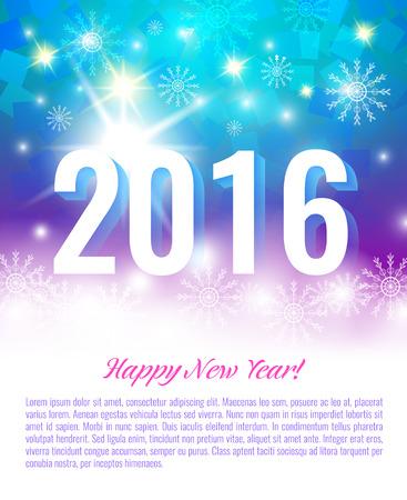 date night: New Year 2016. Vector postcard Illustration