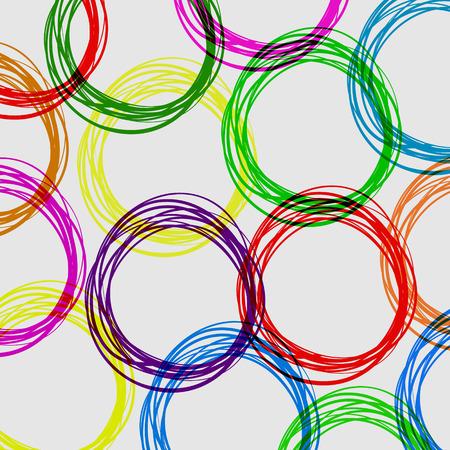garabatos: Dibujado a mano el anillo colorido.