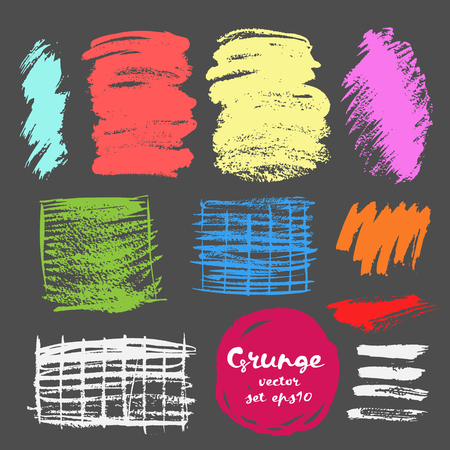 strokes: Set of grunge brush strokes.