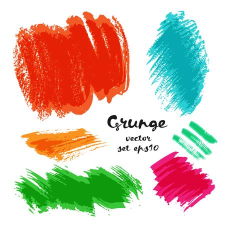 watercolor splash: Set of grunge brush strokes.