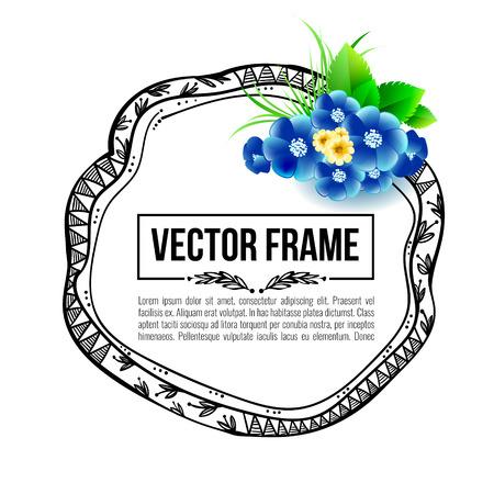 Marco floral, tarjeta de felicitación, la invitación
