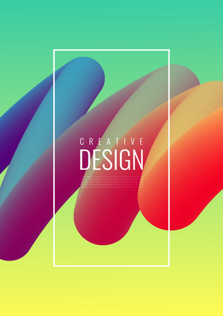 Abstract 3D mixing of colors and lines in a beautiful combination. Modern vector template for design of posters and much more. 向量圖像