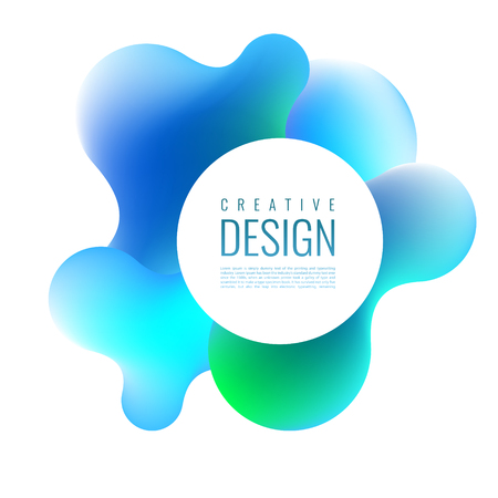 Abstract 3D mixing of colors and lines in a beautiful combination. Modern vector template for design of posters and much more. 일러스트