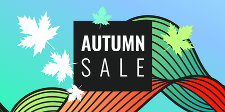 Discounts autumn bright background with leaves. Beautiful vector template for design 일러스트