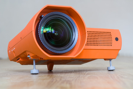 Projector with a big lens. Фото со стока