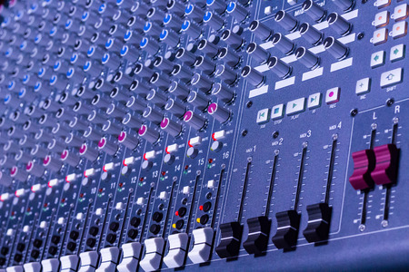 audio mixer: Audio Equipment. Sound Mixer. Stock Photo