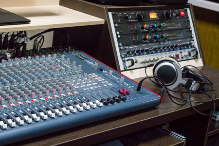 audio equipment: Audio Equipment. Sound Mixer.Headphones.