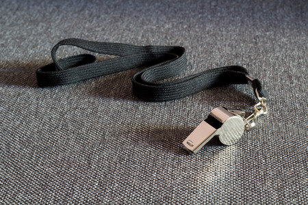 strap on: Whistle with a Black Strap on the Tissue Surface