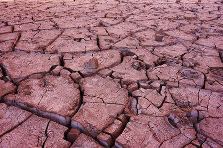 Cracks in the ground in the desert