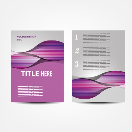 page layout: vector business brochure, Flyer template Illustration