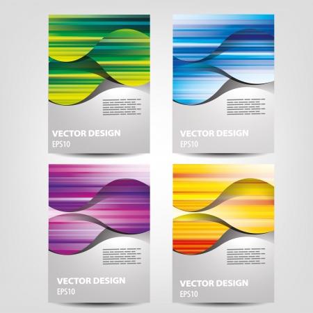 achtergrond ontwerp voor brochure, flyer, dekking Vector Illustratie