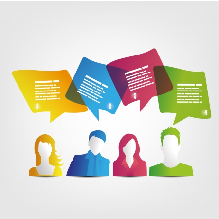 people and speech bubbles design Illustration