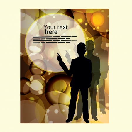 corporate people: template for advertising brochure with business people Illustration