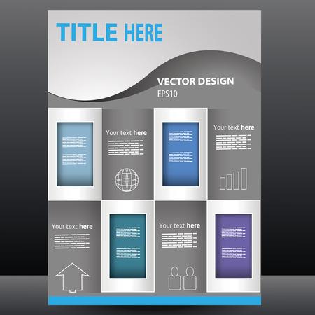 Vector business presentation, brochure, flyer, magazine cover   poster design template Illustration
