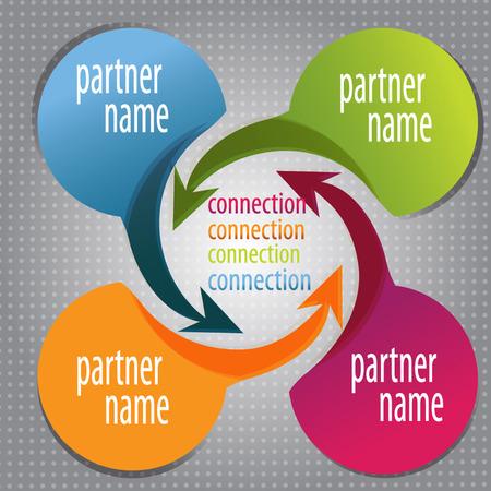circle design: Presentation template design, infographic