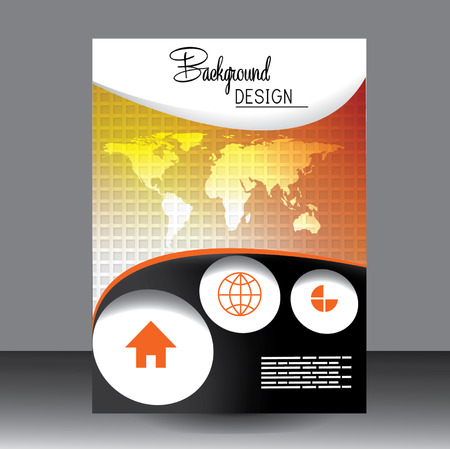 catalogue: Professional business flyer template Illustration