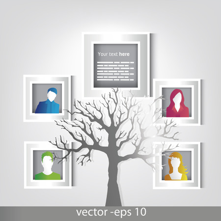 Family portre design Vector
