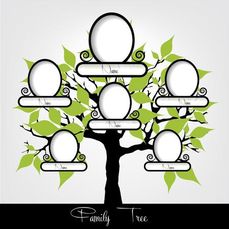 descendants: Family tree Vector illustration