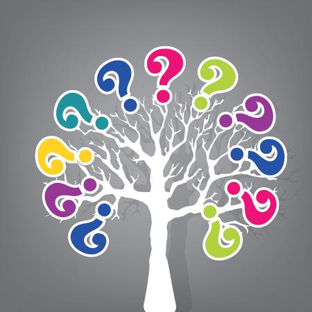 arbol de problemas: árbol del signo de interrogación Vectores
