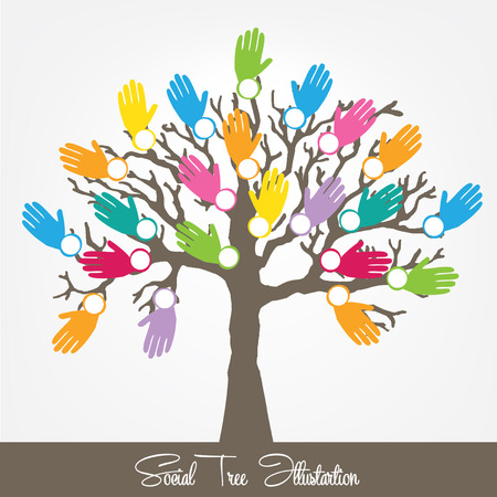 Social tree vector illustration Vector