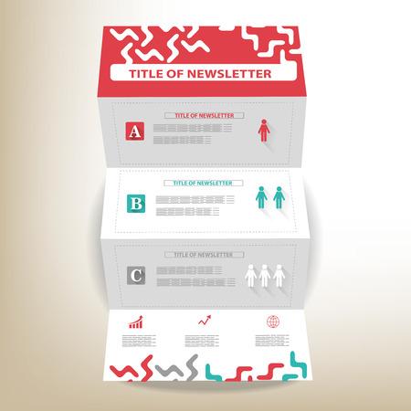 newsletter: newletter design template Illustration