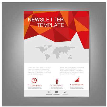 Vector Brochure Flyer design Layout, newsletter template