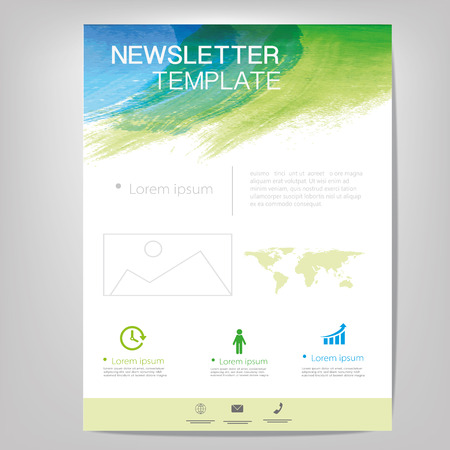 Vector Brochure Flyer ontwerp lay-out, nieuwsbrief template