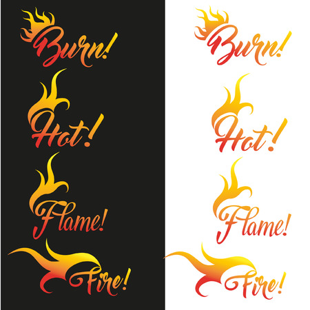 lit collection: abstract vector-fire, flame icons Illustration