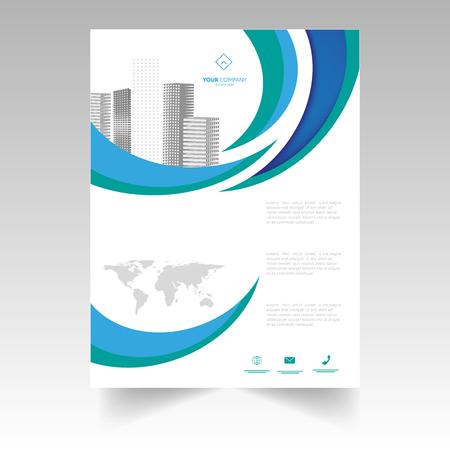 Brochure design. Corporate Business Report Cover, Brochure or Fl - Illustration ... Illustration