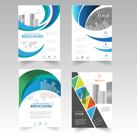 Brochure flyer magazine cover booklet poster design template layout business technology