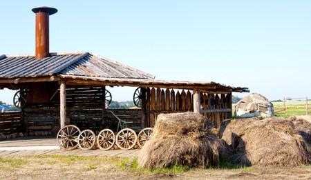 smithy: Smithy and haystacks in village