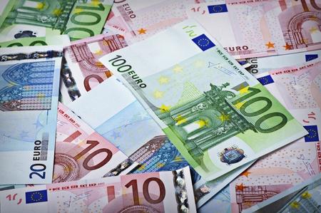 20 euro: Background from money - 100 euro; 10 euro; 20 euro Stock Photo