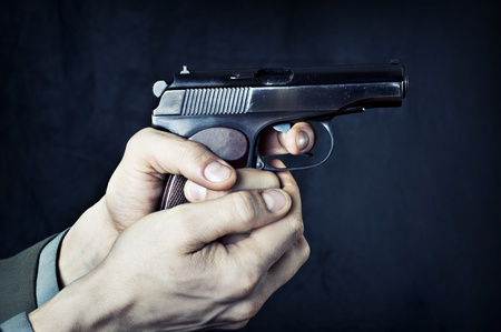 Man with gun. Stock Photo - 12718543