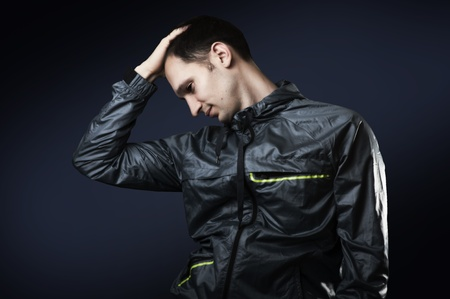 Portrait of young sexy man in sport wear Stock Photo - 12728064