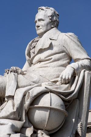 alexander: Statue of Alexander von Humboldt closeup in front of the Humboldt University, Berlin, Germany