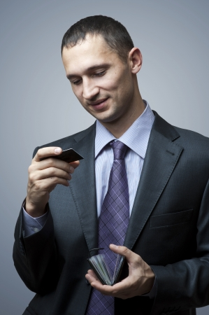 Business man with credit card Stock Photo - 13889040