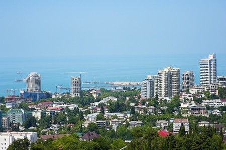 buildings on the coast of Sochi - the kind of bird Stock Photo - 14350025