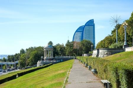 rotunda: A rotunda on the central quay. Volgograd. Russia Editorial