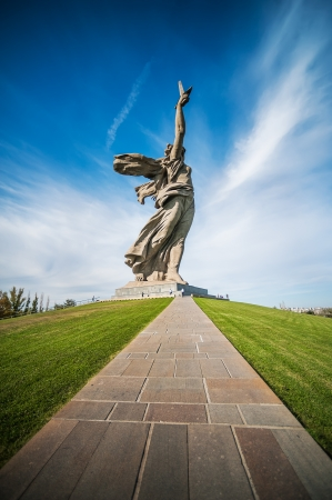 The path to World War II memorial,Motherland Calls&quot, Volgograd, Russia photo