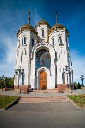 All Saints Church in Russia, Volgograd about memorial Mamaev Kurgan photo