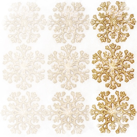 Christmas background. decorations - golden snowflakes Stock Photo - 16279925