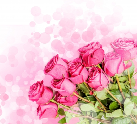 Art Design with beautiful big bouquet of red roses photo