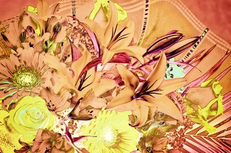 unreal: Fantastic art - defocus floral background with unreal colors