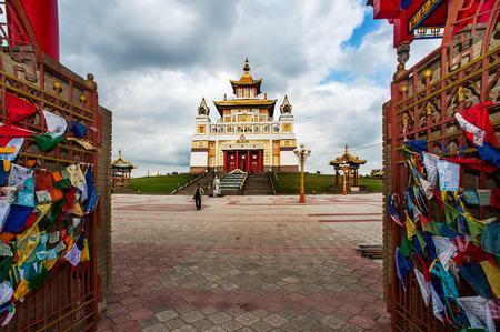 abode: ELISTA - October 13: Burkhan Bakshin Altan Sume - Golden Abode of Buddha Shakyamuni in October 13, 2013 in Elista. It is Buddhist complex patron saint of kalmyk people in kalmykia pepublic, Russia