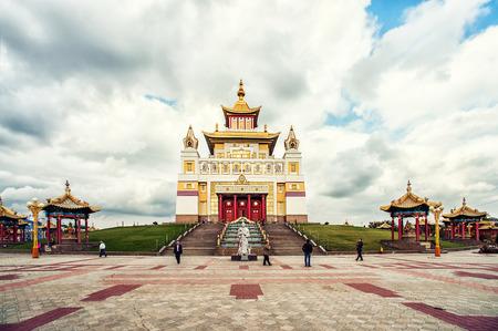 abode: ELISTA - October 13: Burkhan Bakshin Altan Sume - Golden Abode of Buddha Shakyamuni in October 13, 2013 in Elista. It is Buddhist complex the patron saint of the kalmyk people in kalmykia pepublic, Russia Editorial
