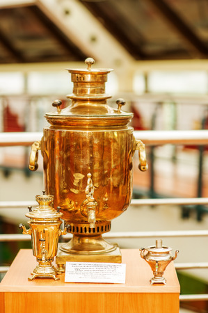 tal: ELISTA - October 13: Samovar - prize of annual chess tournament, devoted to victory day of great patriotic war in Museum of chess fame, Chess Palace in city-chess in October 13, 2013 in Elista. Lagerst chess museum in Russia