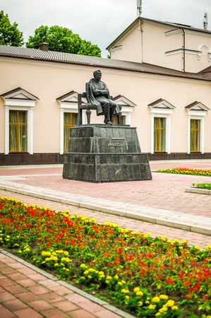dramatist: NALCHIK - July 03: Monument of Shogentsukov Ali Askhadovich in July 03, 2015 in Nalchik. Soviet Kabardian poet, writer, founder of Kabardian literature. Honored Artist of Kabardino-Balkar Autonomous Soviet Socialist Republic Editorial